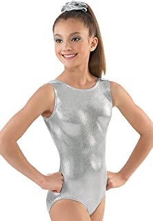 Balera Leotard Girls One Piece For Gymnastics With Metallic And Racerback  For Practice And Competition b6dc67dfd