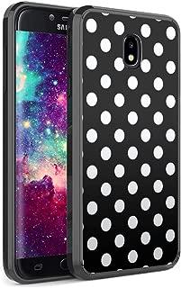 Capsule Case Compatible with Samsung Galaxy J7 2018 (J737), J7 Star, J7 Aero, J7 Refine, J7V 2nd Gen, J7 Crown, J7 Eon [Slim Hard Back Shield TPU Bumper Case Black] - (Polka Dot Black)