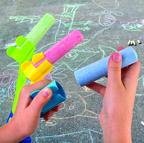 Kids Chalk Rake � Sidewalk Art Chalk Drawing Multiple Lines Tool Toy For Boys And Girls � Extended Handle With 3 Jumbo Oversize Chalks Photo #7