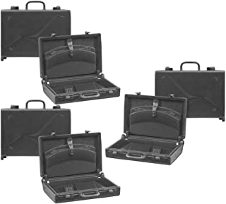 Set of 3 Black Plastic Toy Miniature Briefcases Accessories for Action Figures, Dioramas, Models (1.5 Inches Tall)