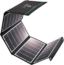 RAVPower Solar Charger 24W Solar Panel with 3 USB Ports Waterproof Foldable Camping Travel Charger Compatible iPhone X 8 7 6 Plus, Ipad Pro Air Mini, Galaxy S9 S8 Note 8, Nexus, LG, HTC and More