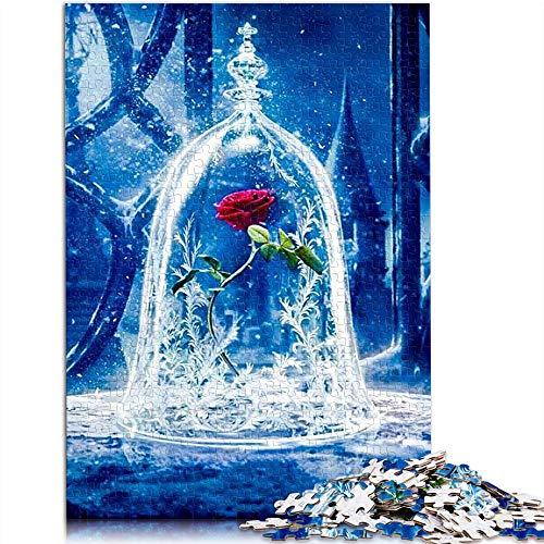 Puzzle Adulto 1000 Piezas La Bella y la Bestia Rompecabezas clásico Art Rompecabezas Juegos educativos para Adultos y niños para aliviar el estrés. 75x50cm