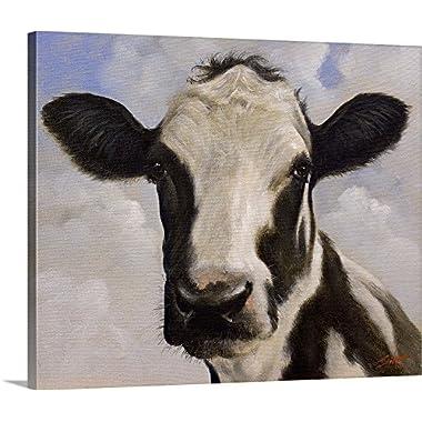 John Silver Premium Thick-Wrap Canvas Wall Art Print entitled Dairy Cow 24 x20