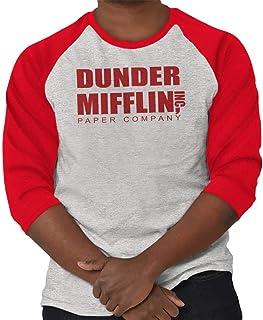 Brisco Brands Dunder Paper Company Mifflin Office TV Show 3/4 Sleeve T-Shirt