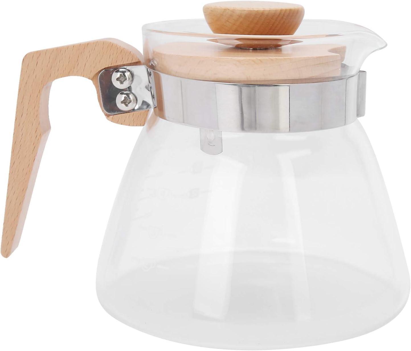 Coffee Kettle Glass Pot Handl famous Heat‑Resistant Wooden Over item handling