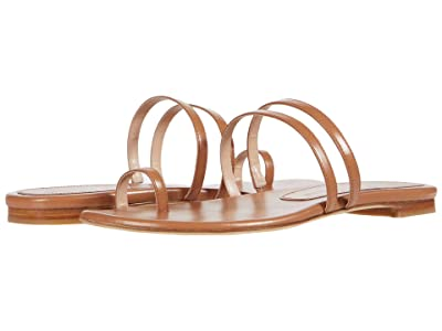 Stuart Weitzman Leonita Slide (Tan Smooth Calf) Women