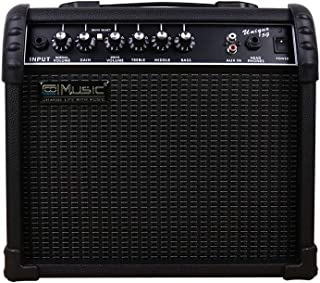 Coolmusic Electric Guitar Amp 15W Amplifier Practice Home Amplifier Built In Speaker Headphone Jack And Aux Input Includes...