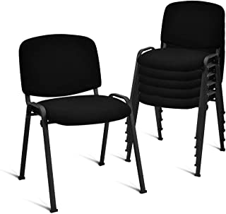 Giantex Set of 5 Conference Chair Elegant Design Stackable Office Waiting Room Guest Reception (31.5 H)