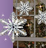 GE 8 Count Snowflake Random Sparkle Icicle-Style Lights
