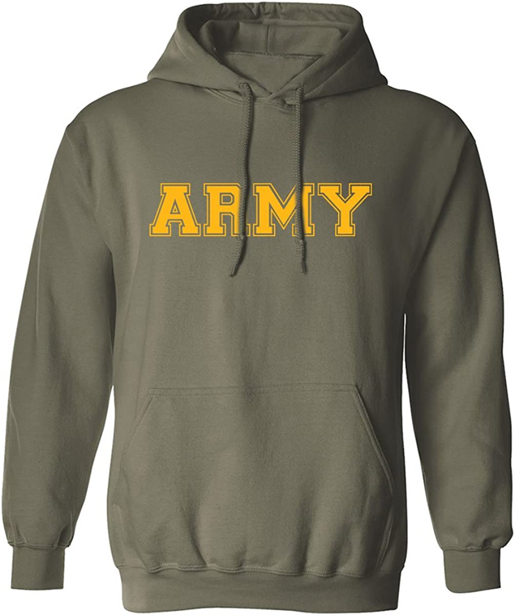 Army Gold Athletic Adult Hooded Sweatshirt in Military Green - XXX-Large