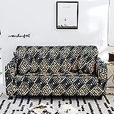 Protector seccional para Muebles para sofá, Funda elástica elástica, Funda seccional para sofá, en Forma de L, Funda para sillón, 8_145-185cm, Funda para sofá de Esquina, elástica en Forma d