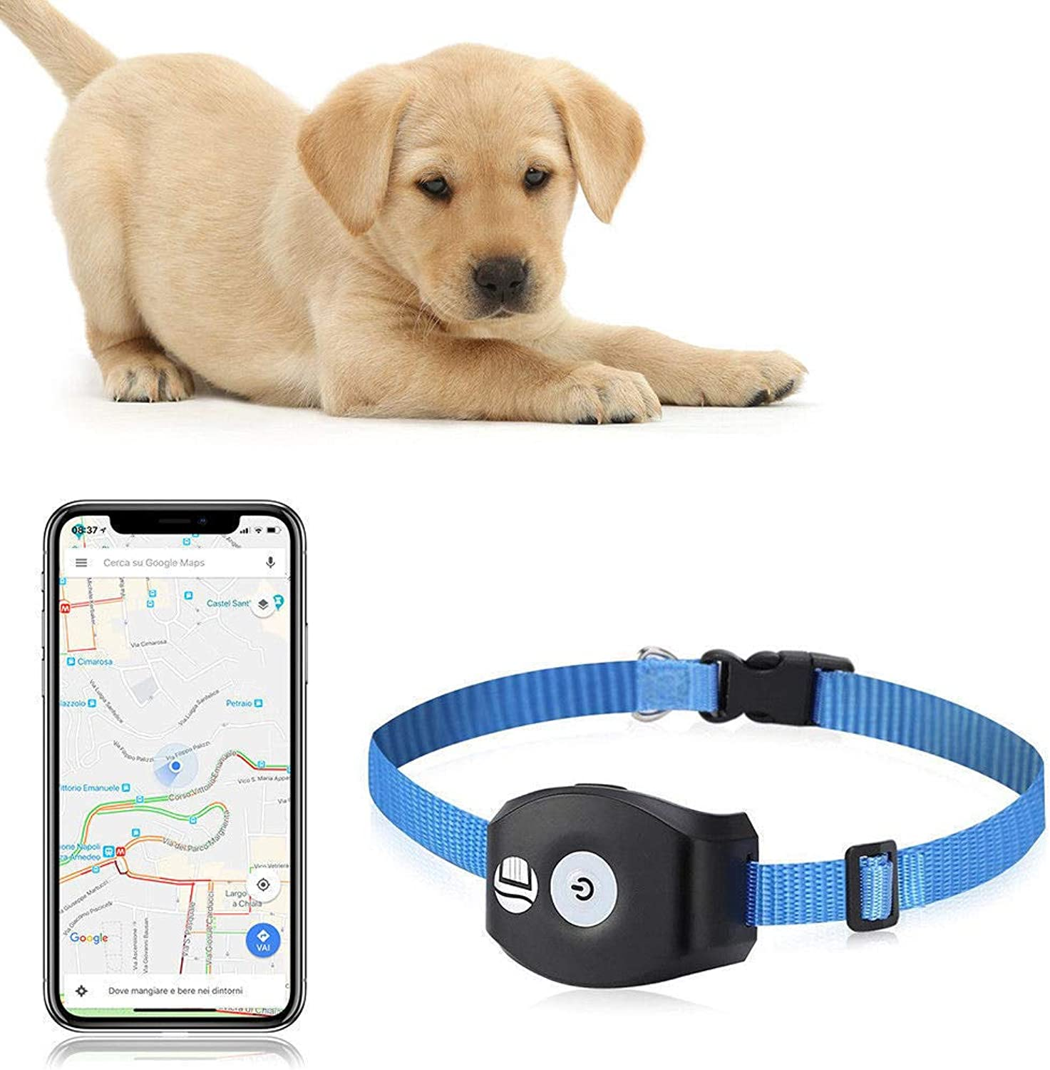 QNMM Mini Pet Smart AntiLost Tracking Device Waterproof Pet Finder Collar Waterproof Alarm Realtime Tracking Voice monitor