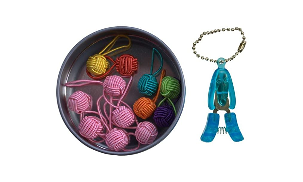 HiyaHiya Yarn Ball Stitch Marker Gift Tin