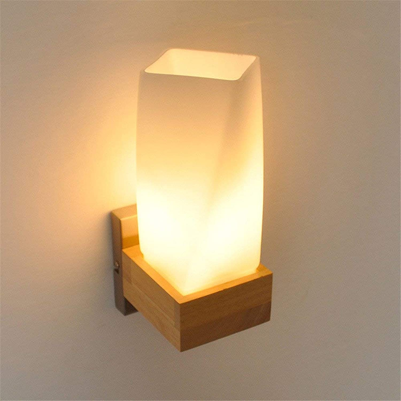 Wall Light Home Einfache hlzerne Beleuchtung E27 Wandleuchte Wohnzimmer Schlafzimmer Nacht Balkon