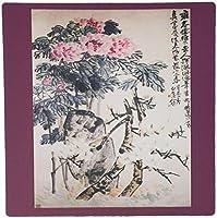 3drose LLC 8x 8x 0.25インチマウスパッドイメージの中国絵画の花柄とChinese Writing ( MP _ 174647_ 1)