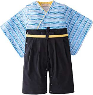 May's Baby Toddler Boys Kimono Costume Cardigan and Romper 2-Piece Set