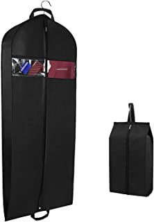 Syeeiex 60 Inch Garment Travel Bag Dust Cover Dress Bag with Zipper Pockets and Shoe Bag for Tuxedos Gown Dress Suit Travel and Storage