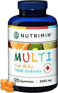 Nutrimin Multi+ Gummy for Kids - Allergen Free Vegetarian Vitamins and Nutrients - 120 Count of Halal Multivitamin Gummies...