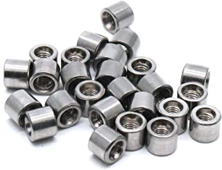 Yootop M3 Thread Round Coupling Nut Sleeve Stud Nut 5mm Height 25-Pack