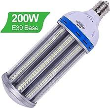 200W LED Corn Light Bulb E39 Mogul Base, 5000K Daylight 26000LM, 1000-1200Watt CFL HPS Metal Halide Equivalent, Outdoor Large Area Lamp Replacement for Street, Garage, Warehouse High Bay Cob Lighting