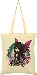 Hexxie Women's Rose So Bored of Reality Tote Bag Cream 38x42cm