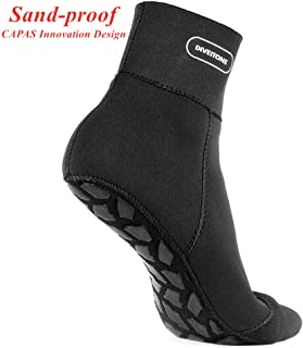 CAPAS 2mm Neoprene Socks, Sand-Proof Upgrade Design Wetsuit Sock for Snorkeling, Kayak, Swimming Water Sports Keep Your Feet Warm and Provided Protection