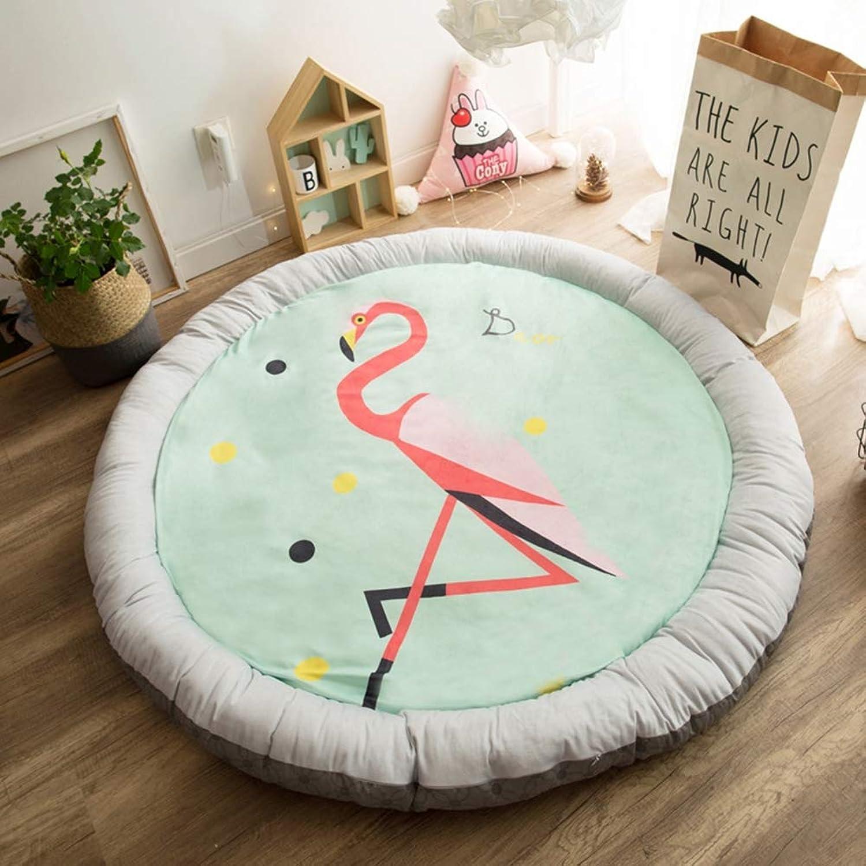 Mr.LQ Runde Baby Krabbeldecke Dicke warme süe Teppich Kinder Spielmatte groe weiche Decke Activity Pad,A