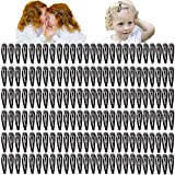 150PCS Snap Hair Clips Metal Hair Barrettes Black Snap Barrettes Hair Accessoires for Girls Women Toddlers Kids