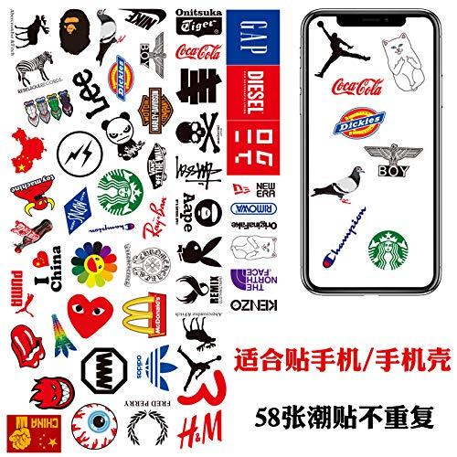 Mini Trompet Europese en Amerikaanse Tide Merk Logo Mobiele Telefoon Stickers Gepersonaliseerde Mobiele Telefoon Case Opladen Treasure Tablet Stickers Waterdicht 58