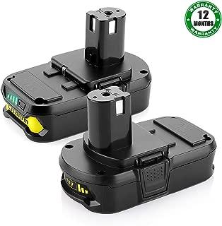 2.5Ah P102 18V Battery for Ryobi 18-Volt Lithium ONE+ Battery P102 P104 P107 P105 P103Replacement for Ryobi 18V Batteries,2Pack