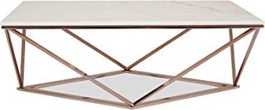 Edloe Finch Modern Rose Gold Coffee Table