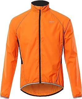 Walory Abrigo de Viento - Hombres Chaqueta de Ciclismo Reflectante Transpirable Bicicleta de Manga Larga Jersey Chaqueta d...
