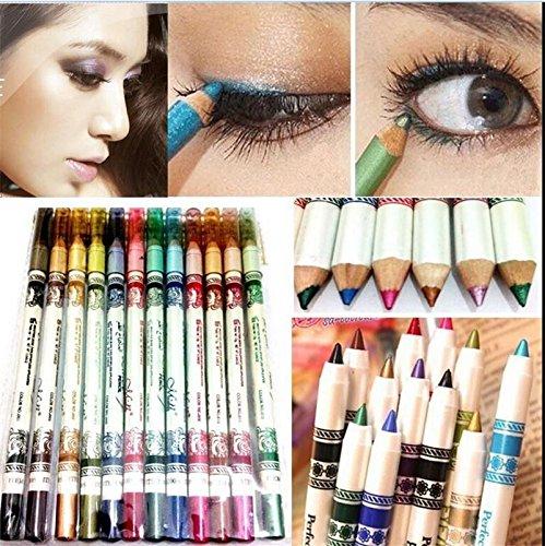 12 couleurs Eyeliner crayon de maquillage cosm¨¦tiques stylos set