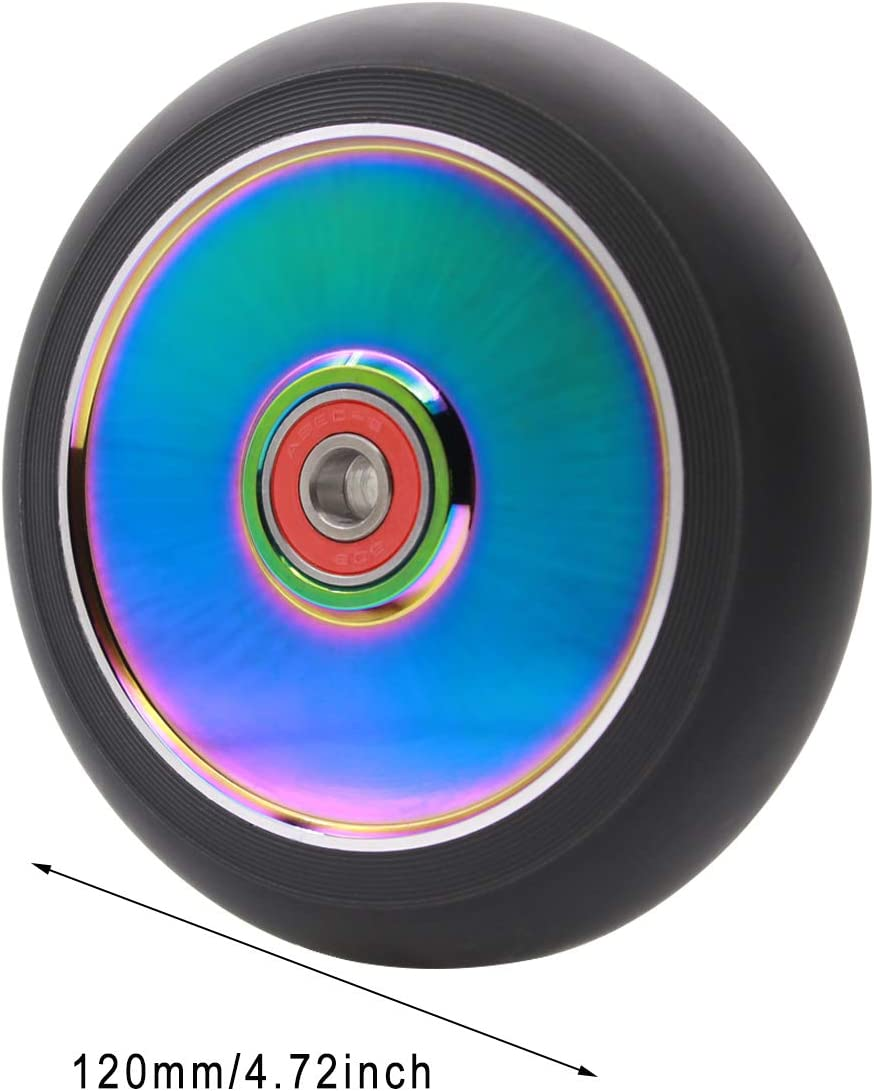 2Pcs 120mm Pro Scooter Wheels with ABEC 9 Bearings for MGP//Razor//Lucky Pro Scooters