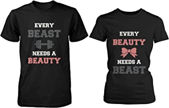 Every Beauty Needs A Beast Matching Couple Shirts Cute Valentines Day Gifts
