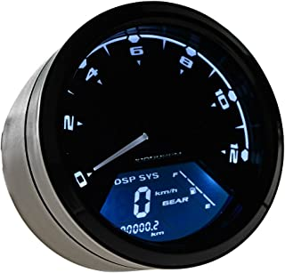 Astra Depot 199 KMH MPH 12000 RPM Motorcycle Odometer Speedometer Tachometer Backlight LCD Digital All-in-One