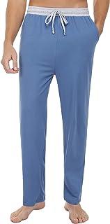 Pantalones de Pijama Hombre, Pantalones Pijama Hombre Largos de Algodón con Bolsillos Cintura Elástica Hombre Pantalones, Pantalones Largos Hombre Chandal para Hogar, Ocio y Los Deportes