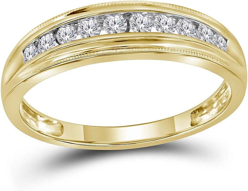 10kt Yellow Mesa Mall Gold Womens Round Diamond Single 1 5 ☆ very popular Ring Band Row 4 C