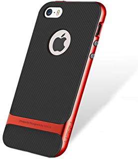 4201bcb905 Genuine ROCK Royce Ultra Slim Hybrid Shockproof iPhone SE 5 5S Case Cover -  Red