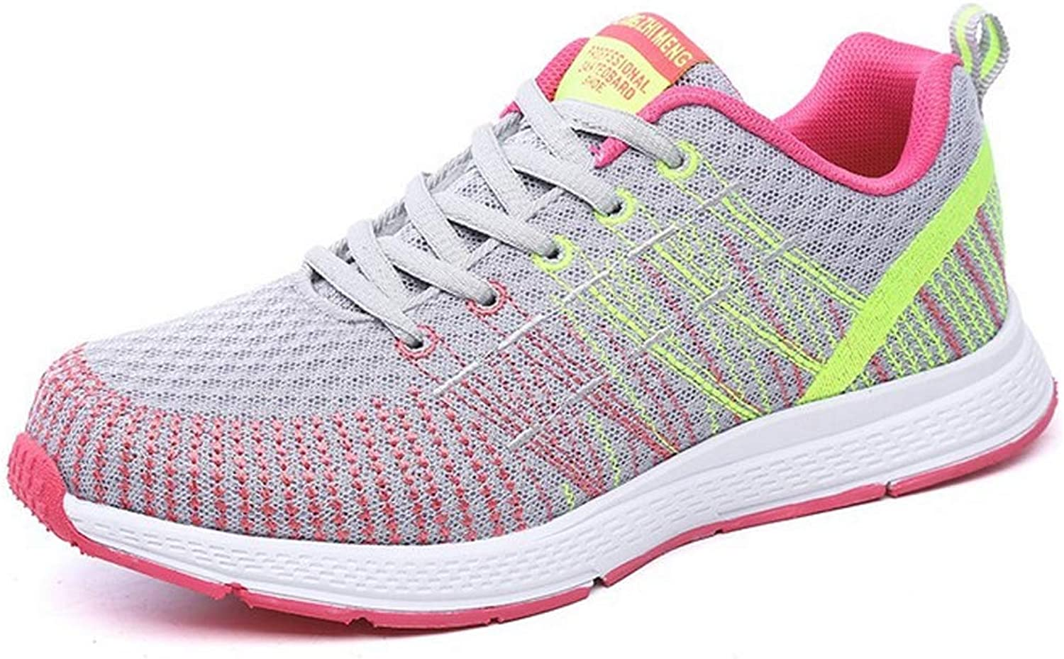 THBM Women Lightweight Road Running Knit shoes Casual Mesh Walking Sneakers