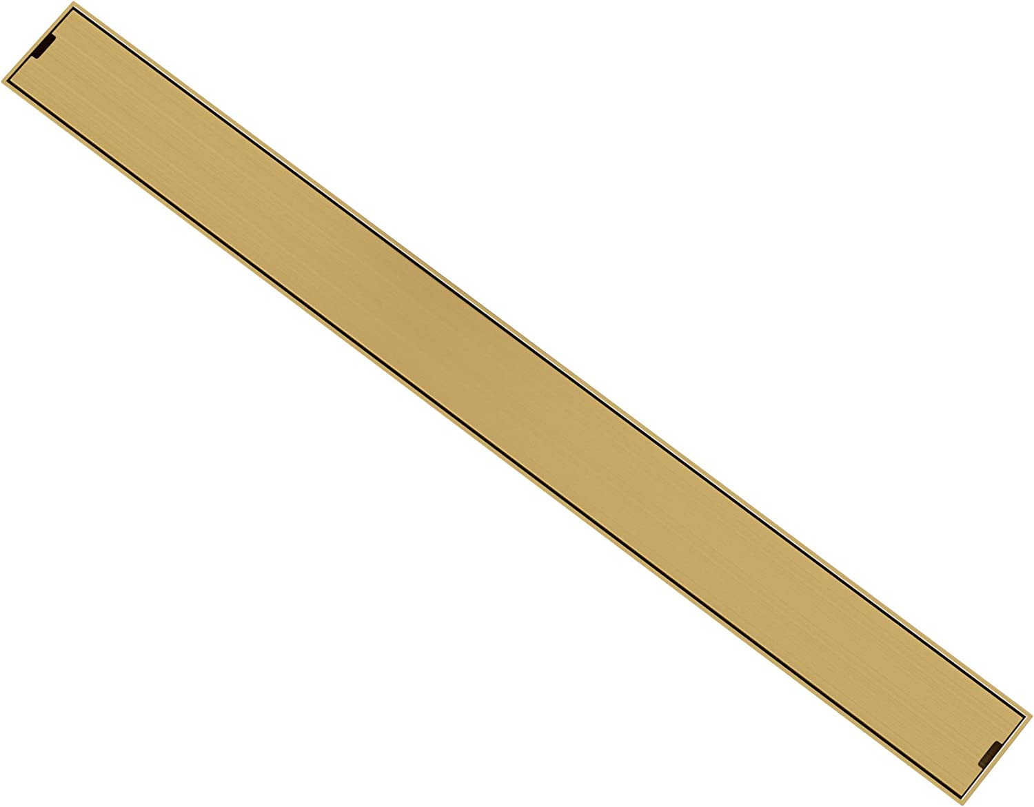 KATAIS 24 Inch Linear Brushed Floor Popular Ranking TOP3 shop is the lowest price challenge Gold Bathroom Drai Invisible