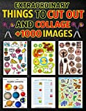 Extraordinary Things to Cut Out and Collage: Activity Book: Fold-out With More Than 1000 Stickers! Cut-outs Over 1000 images Collage book of Flowers, ... DIY & Activity Book for Kids Ages 4-8, 7-9