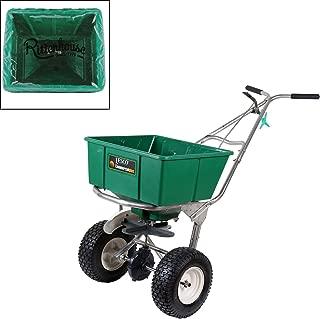 Lesco 101186 High Wheel Walk-Behind Fertilizer Spreader with Rittenhouse Hopper Cover (Bundle, 2 Items)