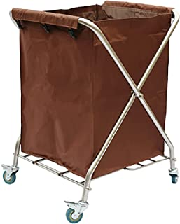 Wasmand , Draagbare en opvouwbare wasmand met wiel , Afneembare Oxford stoffen stoffen tas - Sterk roestvrijstalen X-frame