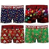 Crazy Boxer PK1778-X Talla XL: Set Boxer 4-microfibra-92% poliéster 8% Elastano, Pack 4pcs PK1778, Hombre