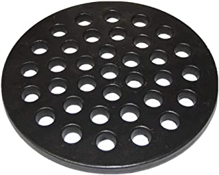 Hongso PCH09 Cast Iron High Heat Charcoal Fire Grate for Large Minimax Big Green Egg Grill, Big Kamado Joe Grill, BGE, and Other Ceramic Grills, Charcoal Grate Replacement Parts 9-inch