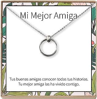 Dear Ava Collar Regalo para Amiga: Joyería, Mejor Amiga, Cumpleaños, Navidad, 2 Linked Circles