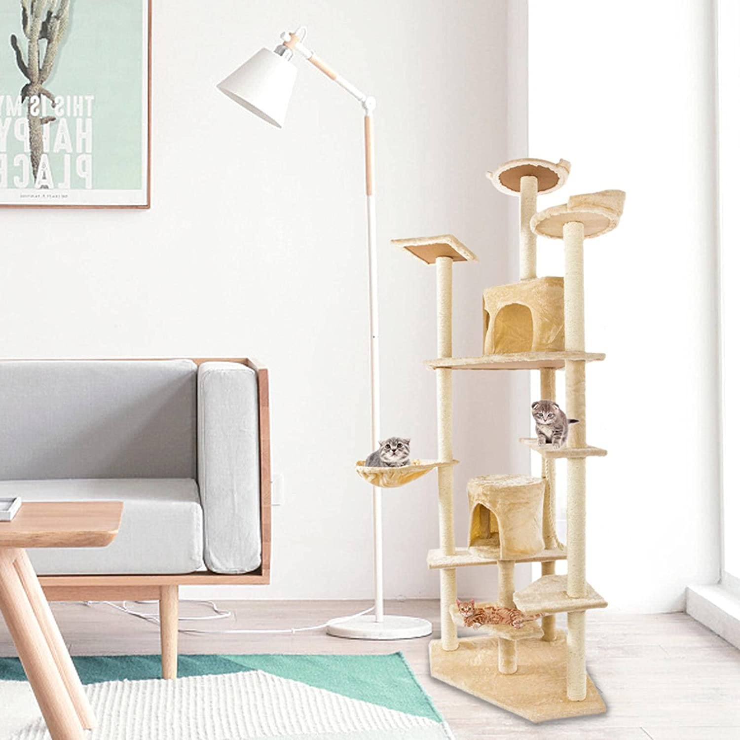 N\C Cat Tree cat Tower 80-inch 6-Storey 2 of Max 61% OFF Sets About 203cm Ranking TOP2