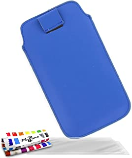"""MUZZANO Original""""Le Sweep"""" Case Cover for Samsung Galaxy Express with 3 Ultra-Clear Screen Protectors - Blue"""