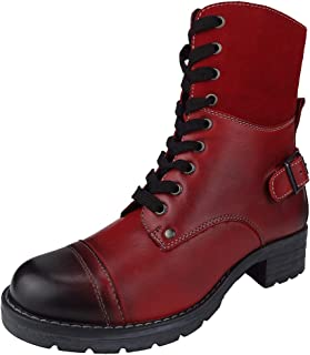 Women's Deedee Boots, Zipper, Lace-up, Adjustable Rear Buckle, High End Leather Boot